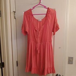 Cute pink short dress